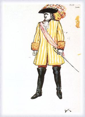 La forza del destino, figurino per Don Carlo