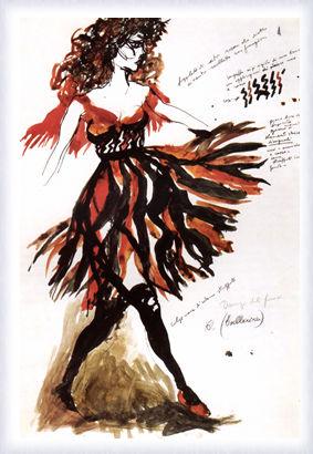 L'Amore stregone, figurino per ballerina