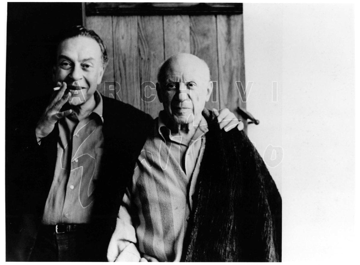 Guttuso Picasso fotografati da Jaqueline Picasso, anni '60