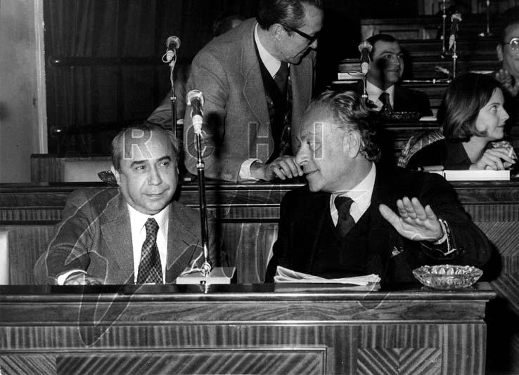 Leonardo Sciascia, Renato Guttuso, Consiglio Comunale, Palermo, 1975