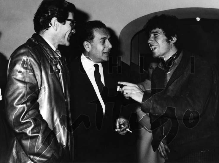 Pierpaolo Pasolini, Renato Guttuso, Ninetto Davoli, Galleria La Medusa, Roma, 1968
