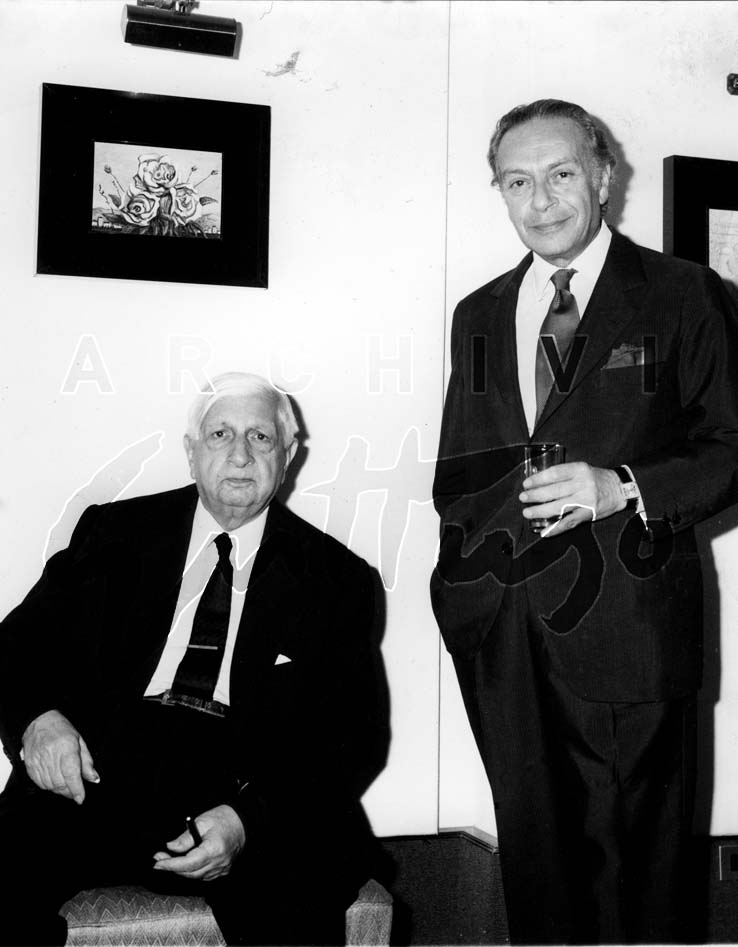Renato Guttuso e Giorgio de Chirico, Roma anni '70