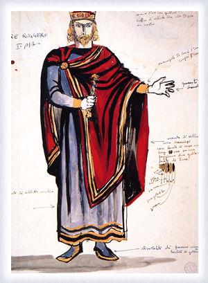 Figurino per Re Ruggero, atto I