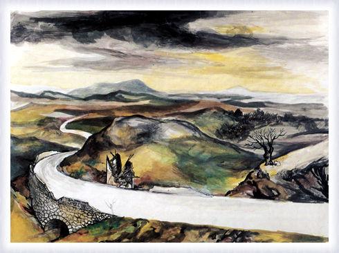 La gita in campagna, bozzetto di scena, quadro I e III