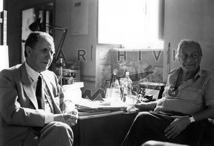 Carlo Azelio Ciampi, Renato Guttuso nello studio di Palazzo del Grillo, 1986