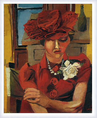 Ritratto di Mimise con il cappello rosso